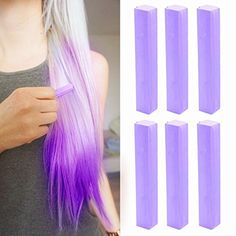 Vivid Lilac Hair Dye | Light Purple Hair Chalk | LILAC LAVENDER Hair Color | With Shades of Lilac Set of 6 Hair Chalk | Color your Hair Vivid Lilac in seconds with temporary HairChalk - Brought to you by Avarsha.com