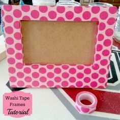 Washi Tape Frames Tutorial (cheap frames from the craft/dollar store)