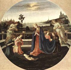 Filippino Lippi (1457/58-1505) — Adoration of the Child, 1480-1483