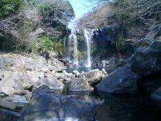 Jeju Island. I love waterfalls.