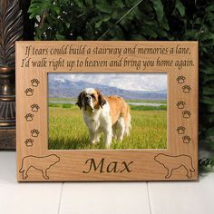 Memorial Saint Bernard Dog Picture Frame
