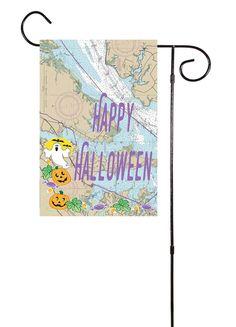 Happy Halloween Nautical Garden Flag