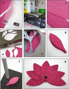 PUNCH TRICK - Blossom Petals Builder Punch to create a paper embellishment - bjl