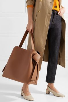 Acne Studios | Musubi large knotted leather shoulder bag | NET-A-PORTER.COM #acnechest #leathershoulderbag