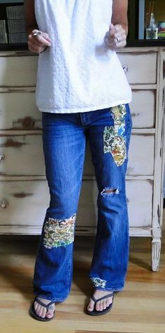 DIY Knee Patches DIY Momma Got Some New Jeans!