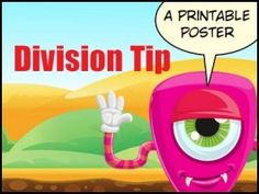 Use Multiplication to Solve Division - a Math Wall Poster Math Vocabulary Wall, Math Wall, Division Games, Free Poster Printables, Number Talks, Multiplication Games, Math Poster, Wall Posters, Free Math