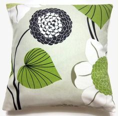 TWO Black White Lime Green Taupe Gray Decorative Pillow Covers Handmade 16 inch Toss Throw Accent Covers