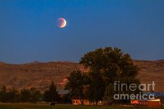 Farm View Of Supermoon Eclipse: http://fineartamerica.com/profiles/robert-bales/shop/all/all/all