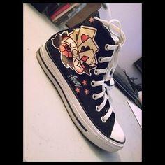 b1bdcdde9743 off Converse Shoes - Converse 💀 Sailor Jerry Tattoo Chucks Shoes .