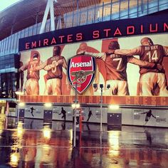 A rainy winter's afternoon outside Emirates Stadium... - some day in the future i'm gonna be there with my future husband and kids <3