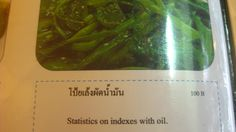 Eaten in Thailand: a magical blend of vegetables and mathematics.