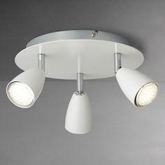 Buy John Lewis Thea LED Spotlight Plate, 3 Light, White from our Ceiling Lighting range at John Lewis & Partners. Ceiling Shades, Flush Ceiling Lights, Wall Lights, Incandescent Bulbs, John Lewis, Pendant Lighting, Chrome, Plates, Appliques
