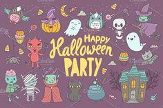 Cute Happy Halloween pattern by kostolom3ooo on @creativemarket