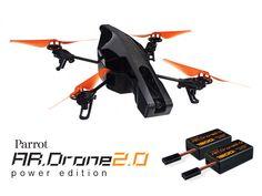 PARROT AR DRONE 2.0 POWER EDITION Luftfahrzeug mit Kamera, dass du mit deinem iPhone, iPad oder Android-Gerät bedienst. Jetzt in der Version 2.0 mit HD-Kamera, zusätzlichen Sensoren und noch besserer Flugstabilität. - coolstuff.de