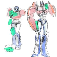 Orion Pax/Optimus Prime<<<From nerdy Archivist to revolution leader, but always adorable