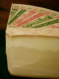 Appenzeller cheese.  Visited the place in Switzerland where this is made.  Very interesting and great cheese.