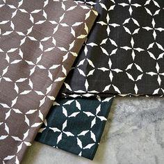 "Uma Stewart Textiles ""Relic"" in Teak, Onyx, Dark Moss – Revitaliste Textile Fabrics, Textile Design, Floral Tie, Teak, Upholstery, Pillows, Brown, Blue, Tapestries"