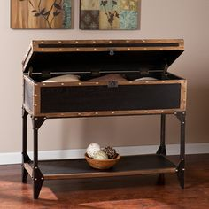 Upton Home Duncan Travel Trunk Console/ Sofa Table | Overstock™ Shopping - Great Deals on Upton Home Coffee, Sofa & End Tables