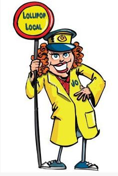 Someone personalised this Lollipop Lady cartoon for me - dont have original source yet