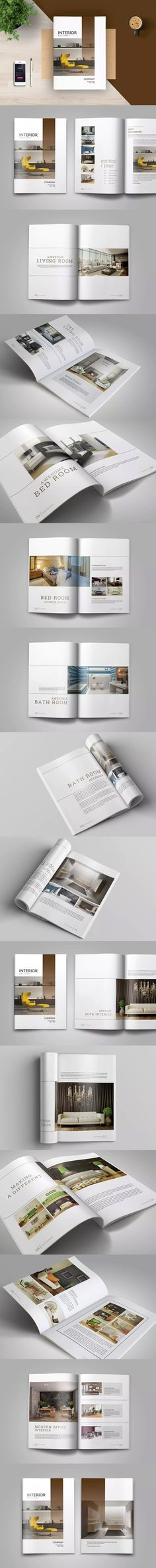 Interior Catalogs Brochure MagazineTemplate PSD, PDF - A4