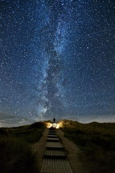 There's a place in Ireland where every 2 years, the stars line up with this trail on June 10th-June 18th.   It's called the Heaven's Trail.