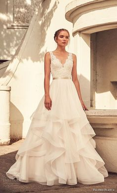 Inspiration Robe du Mariage : Description Want a wedding day look that is., Robe du Mariage : Description Want a wedding day look that is glamorous, but still comfy? Tulle Skirt Wedding Dress, Wedding Dress Styles, Dream Wedding Dresses, Bridal Dresses, Wedding Dress With Belt, Dresses Dresses, Wedding Dresses With Ruffles, Dress Lace, Tulle Skirts