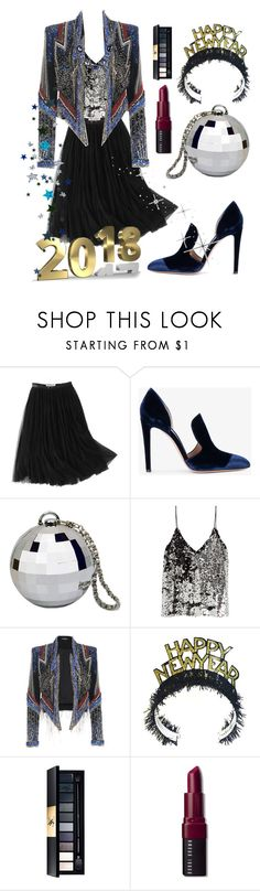 """Stroke of midnight"" by li-maison ❤ liked on Polyvore featuring WithChic, Gianvito Rossi, Samsøe & Samsøe, Kenneth Cole, John Lewis and Bobbi Brown Cosmetics"