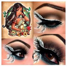 disney inspired makeup | Disney Pocahantus Inspired Makeup | Disney Inspired....Make-Up and ...