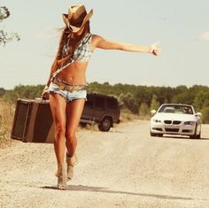 Similar situation. hitch hiking blonde dp simply excellent