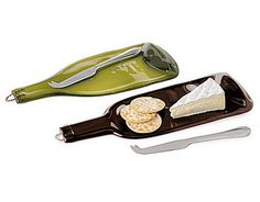 13. Recycled Wine Bottle Serving Tray