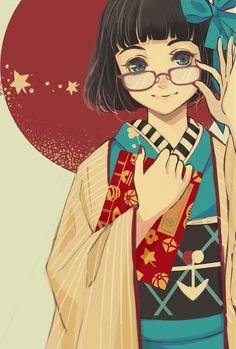 I'm Nao. I love kimono! I love modern/harajuku. Anime Kimono, Manga Anime, Anime Art, Manga Illustration, Character Illustration, Manga Girl, Grafiti, Image Manga, Anime Kunst
