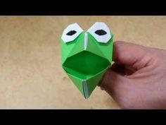 590 쉬운 종이접기 (말하는 개구리) Easy Origami 쉬운 색종이접기 摺紙 折纸 оригами 折り紙 اوريغامي - YouTube