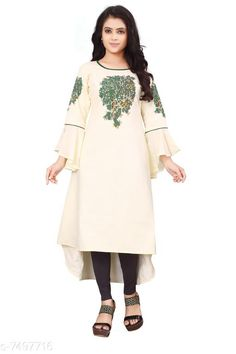 Kurtis & Kurtas Women'S Printed Rayon Slub  Kurti Fabric: Rayon Slub Sleeves: 3/4 Sleeves Are Included Size:  M - 38 in L - 40 in XL - 42 inXXL - 44 in Length: Up To 46 in Type: Stitched Description: It Has 1 Piece Of Women's Kurti Work: Embroidered & Tassel Work Country of Origin: India Sizes Available: M, L, XL, XXL   Catalog Rating: ★4.1 (481)  Catalog Name: Free Mask Women'S Printed Cotton Kurtis CatalogID_398614 C74-SC1001 Code: 534-7497716-4011