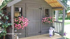 Gallery of best garden sheds - Tons of great sheds on this website. I like this door design