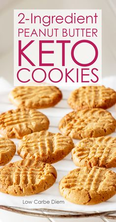 2 ingredients, plenty of fiber and protein. Crumbly, crunchy sweet-buttery keto cookies, plus Reese's and ice cream sandwich options. Keto Cookies, Keto Peanut Butter Cookies, Sugar Free Cookies, Low Carb Peanut Butter, Coconut Flour Recipes Low Carb, Sugar Free Cookie Recipes, Almond Butter Snacks, Diabetic Cookies, Coconut Flour Cookies