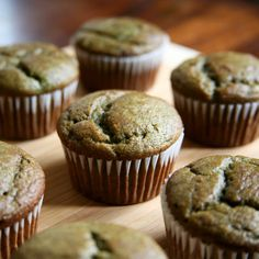 Banana Smoothie Muffins 3 ripe bananas 2 cups packed baby spinach 8 strawberries 1 1/2 cups whole wheat flour 3/4 cup sugar 1 egg 1/4 cup canola oil 1 teaspoon baking soda 1 teaspoon cinnamon 1/8 teaspoon salt 350 degrees 20-30 minutes