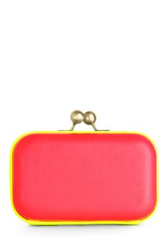 Hit the Dance Floor-escent Clutch  This season is all about color, so show off your freshly done mani with this bright clutch when you're out with the girls!