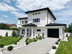 Proiect Casa Rezidentiala Galati – Profile Decorative Beautiful House Plans, Beautiful Homes, Facade House, Design Case, Home Fashion, Home Goods, Villa, House Design, Mansions