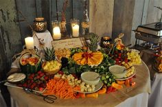 Another hors d'oeuvres table idea.