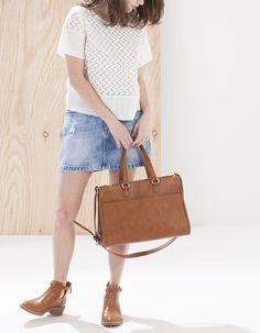 Bag with double zip detail - BAGS - WOMAN | Stradivarius Republic of Ireland