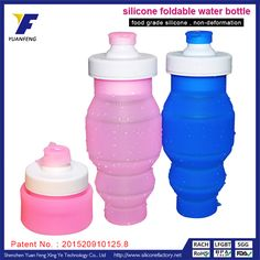 silicone water bottles safe kids sports water bottles reusable foldable water bottle