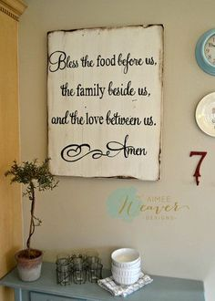 """Blessing"" Wood Sign 24x30 {customizable} - Aimee Weaver Designs"