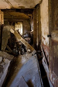 Inside the Doctors' Cottage on North Brother Island, NY.