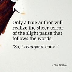 The true meaning of fear for Authors...