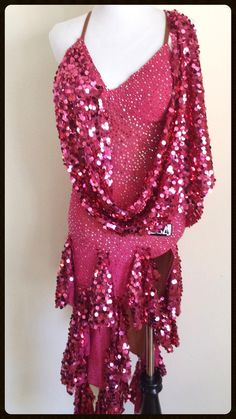 Raspberry Rave by VESA - Dazzle Dance Dress Rentals - rent a quality dress for your next competition!  Ballroom dresses for all!