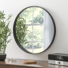 View Malaga Deep Circular Black Mirror product from Soraya Interiors UK, See more products like this and more wall mirror categories Hallway Mirror, Hall Mirrors, Living Room Mirrors, New Living Room, Bedroom Mirrors, Framed Mirrors, Black Round Mirror, Black Wall Mirror, Round Mirrors