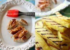 Кесадилья с ананасом и курицей