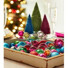 Add a pop of color easily to your holiday decor with this DIY Elf Bright Miniature Ornament Christmas Tray