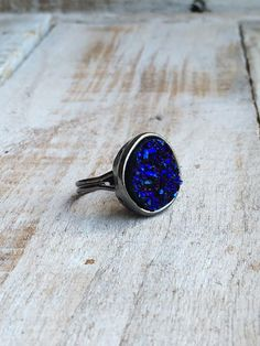 Statement Rings - Blue Ring - Fashion Rings - Unique Cluster Ring - indie Rings