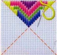 Барджелло - это счетная вышивка выполненная повторяющимися в определенной последовательности вертикальными плотно прилегающими друг к друг...